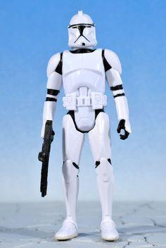 "Star Wars Saga Legends CLONE TROOPER 3.75"" Action Figure AOTC Hasbro 2013 #Hasbro"