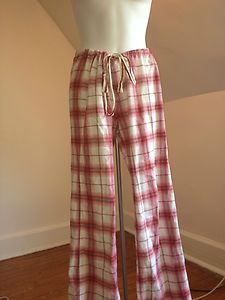 Hollister COMFY COZY Red Plaid Pajama Pants Size M - GREAT CONDITION! Only $16.99 FREE SHIP!