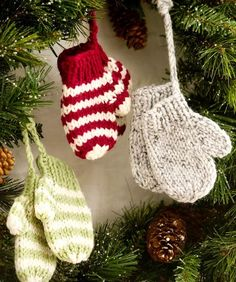 unique knitted christmas decorations, homemade christmas decorations
