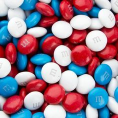 4th of July - Red, White, & Blue M&Ms
