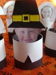 Thanksgiving craft, pilgrims- these are ridiculously cute!!