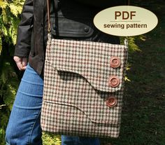 Sewing pattern to make the Melford Messenger Bag by charliesaunt