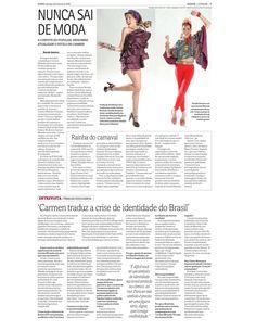 Especial sobre os 100 anos de nascimento de Carmen Miranda publicada em O Popular de 8 de fevereiro de 2009. Página 3 de 3.