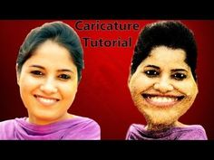 How to make Photo to Caricature (Caricature Tutorial) (Photoshop CS6 Tutorial)