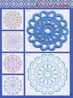 Crochet Motifs with Charts by amalia