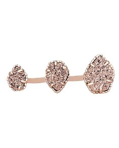 Naomi Double Ring in Rose Gold Drusy- Kendra Scott Jewelry.