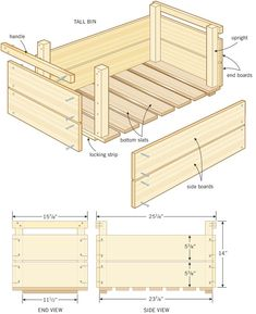 Construction Drawing For Produce Storage Bins