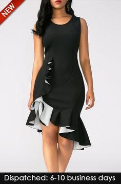 Visit Site To Get Your Discount Coupon [Offer End Date: - Peplum Hem Sleeveless Black Sheath Dress Tight Dresses, Sexy Dresses, Cute Dresses, Casual Dresses, Sheath Dresses, Long Dresses, Outfit Vestido Negro, Black Peplum, Dress Black
