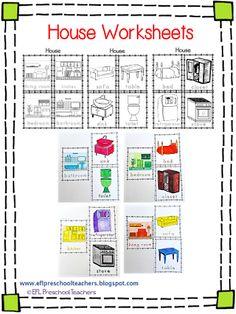 ESL/EFL Preschool Teachers: House Worksheets for the Preschool ELL