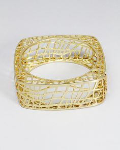 Bird Cage Bangle, another original design and this piece is gold plated!