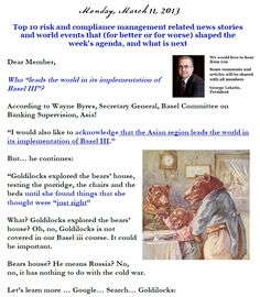 Risk Management News, 11 March 2013