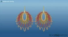 Red phoenix earring