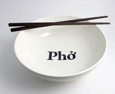 Pho Bowl  Vietnamese Noodle Soup Bowl in Black by LLTownleyCeramic