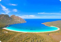 Wineglass Bay, Freycinet National Park, Tasmania, Australia - Beautiful Places to Visit Places Around The World, The Places Youll Go, Places To See, Tasmania Australia, Australia Travel, Western Australia, Coast Australia, Sydney Australia, Dream Vacations