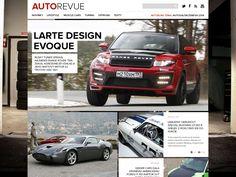 Auto magazine website by Branislav Bajbár