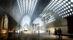 Museum for Contemporary Art / Christian Kerez The main display areas rest under grand vaults where the perforated concrete allows dappled light to illuminate the spaces.  This is one of ...