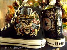 Converse and Guns N' Roses <3