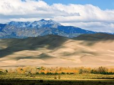 We all know that Colorado is ideal for skiing and hiking, but for a true adventure, head for the Great Sand Dunes, about four hours south of Denver. Resembling a sci-fi movie backdrop, the dunes are the largest of their kind in all of North America with an elevation of at least 750 feet. The climb up is hard and hot (in the summer, sands can reach 150°F), but if it's safe to do so, it's worth putting in the couple hours it takes to reach the very top. Standing at the peak and looking out…