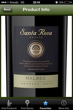 2011 Santa Rosa Estate Malbec Mendoza (Argentina) - $15.95 750 mL (LCBO # 281931)