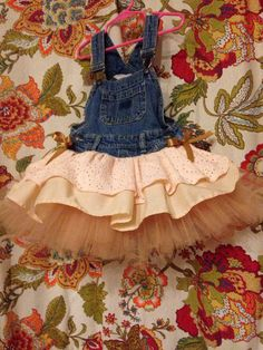 peach overall tutu dress by AnnabelliesBoutique on Etsy