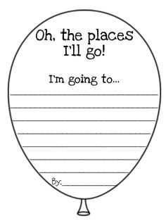 picture regarding Oh the Places You'll Go Balloon Printable Template identify 116 Ideal DS Oh The Sites Youll Shift visuals inside 2019