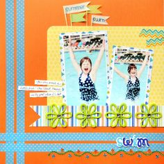 Washi-tape border for page and pennants