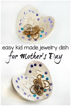 Kid-Made Jewelry Dish Gift for Mother's Day! A simple DIY gift that mom or grandma will love!