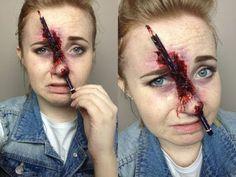 Stapled Eye Halloween Makeup Tutorial by EyedolizeMakeup - YouTube