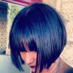 Dark hair# mid length # dark colour# bobs# hair# hairstyles#