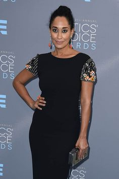 Tracee Ellis Ross attends The 21st Annual Critics' Choice Awards at Barker Hangar on January 17, 2016 in Santa Monica, California 249731