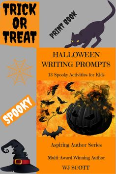 13 Spooky Writing Prompts to ignite your imagination. Bats and cats, owls and howls, trick-or-treat, hosts and ghosts. Have fun this Halloween by creating spooky stories to scare your family and friends. Halloween Writing Prompts, Spooky Stories, Self Publishing, Trick Or Treat, Friends Family, Activities For Kids, Have Fun, Author, Books