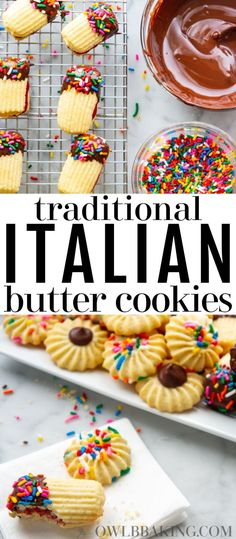 This is the best recipe for traditional Italian Butter Cookies! These cookies are soft and flavorful yet so easy and simple to make. Italian Butter Cookies are way better homemade youll never buy them from a store or bakery again! Italian Butter Cookies, Italian Cookie Recipes, Baking Recipes, Dessert Recipes, Bakery Butter Cookies Recipe, Easy Italian Desserts, Italian Foods, Mexican Recipes, Dessert Ideas