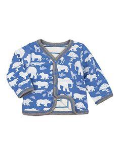 Baby Boy Clothes Hatley Baby Boys' Reversible Cardigan, Safari, 12-18M
