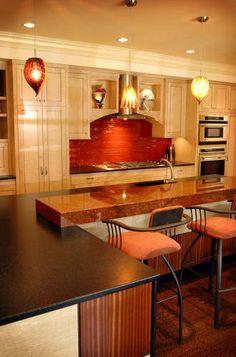 Red Dragon Granite Kitchen Countertop Island Bartop