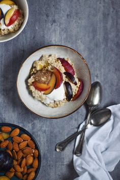 Always Hungry, Morning Food, Recipe Of The Day, Granola, Sweet Recipes, Panna Cotta, Oatmeal, Brunch, Food And Drink