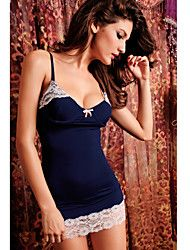 Black Lace-trim Chemise Get superb discounts up to 80% Off at Light in the Box using coupon.