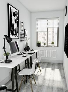 Browse pictures of home office design. Here are our favorite home office ideas that let you work from home. Home Office Space, Home Office Furniture, Home Office Decor, Home Decor, Small Office, Mini Office, Office Decorations, Furniture Design, Desk Space