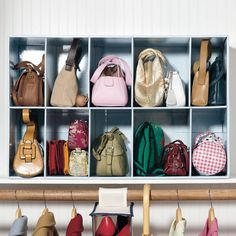 Parking Lot For Purses | Closet | Brylanehome