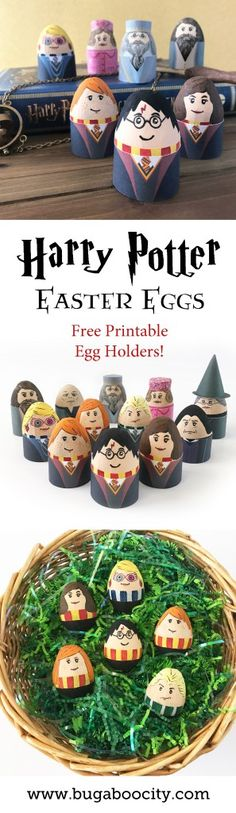 Harry Potter Easter Eggs DIY Tutorial and Free Printable