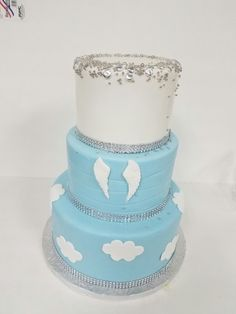 Heaven Sent baby shower cake