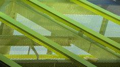 lockergroup_ Locker powder coated woven wire used on the Juliette St Overpass Bridge. #lockergroup #wovenwire #powdercoated #screen #safetyfirst #cycleway #veloway #cyclewaybridge #bridge Powder Coating, Lockers, Bridge, Wire, Group, Locker, Bridges, Closet, Bro