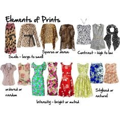 """""""Elements of Prints"""" by imogenl on Polyvore"""
