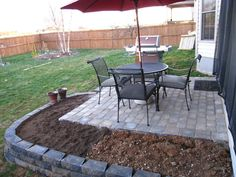 Brick Paver Patio - Landscaping & Lawn Care - DIY Chatroom - DIY Home Improvement Forum. Diy Concrete Patio, Brick Paver Patio, Patio Fence, Raised Patio, Patio Steps, Brick Patios, Pergola Patio, Diy Patio, Backyard Patio