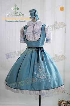 """ozzy   Rakuten Global Market: † FanPlusFriend † Bunny Gothic Lolita """"Bunny Alice Classical"""" Alice """"Lolita Embroidery Suedette JSK/Dress-3 colors and 3 sizes ~ ★ Hat blouse is another sale. * Product and ill"""