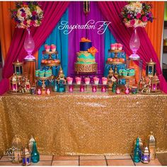 Quinceanera Party Planning – 5 Secrets For Having The Best Mexican Birthday Party Aladdin Birthday Party, Aladdin Party, Birthday Party Themes, Birthday Invitations, 35th Birthday, Women Birthday, Birthday Ideas, Birthday Cake, Arabian Party