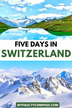 Switzerland is one of the most beautiful countries in the world and no amount of time would be enough to fully explore it! For a short visit, 5 days are perfect to see some of the highlights. Read here for a detailed 5 day Switzerland itinerary, including a budget, transportation, lodging and more! Switzerland itinerary 5 days | Best things to do in Switzerland | Budget Switzerland itinerary | Best places in Switzerland | Switzerland travel | #switzerland #myfaultycompass #SwitzerlandItinerary Swiss Travel, European Travel Tips, Europe Travel Guide, Travel Guides, Best Places In Switzerland, Switzerland Travel Guide, Switzerland Itinerary, Backpacking Europe, Europe Destinations