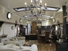 Bright, airy and spacious saloon. If I didn't have this in a canal boat/barge board, would you have known that this was a boat interior?