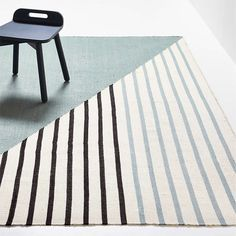 Colorblock Stripe Performance Rug | Crate and Barrel