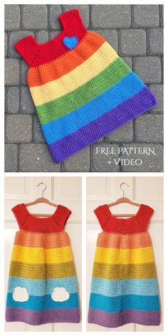 Crochet Dress Outfits, Crochet Girls Dress Pattern, Dress Patterns, Coat Patterns, Diy Dress, Crochet Clothes For Women, Crochet Baby Clothes, Crochet Toddler, Crochet For Boys