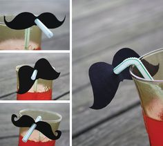 Party Straws With Mustache